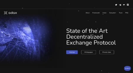 ADAX, 現状を変える、カルダノベースの分散型取引所