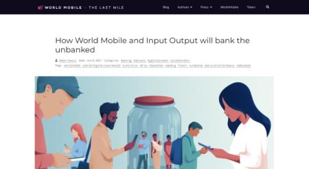 World MobileとInput Outputが銀行口座を持たない人々を救う